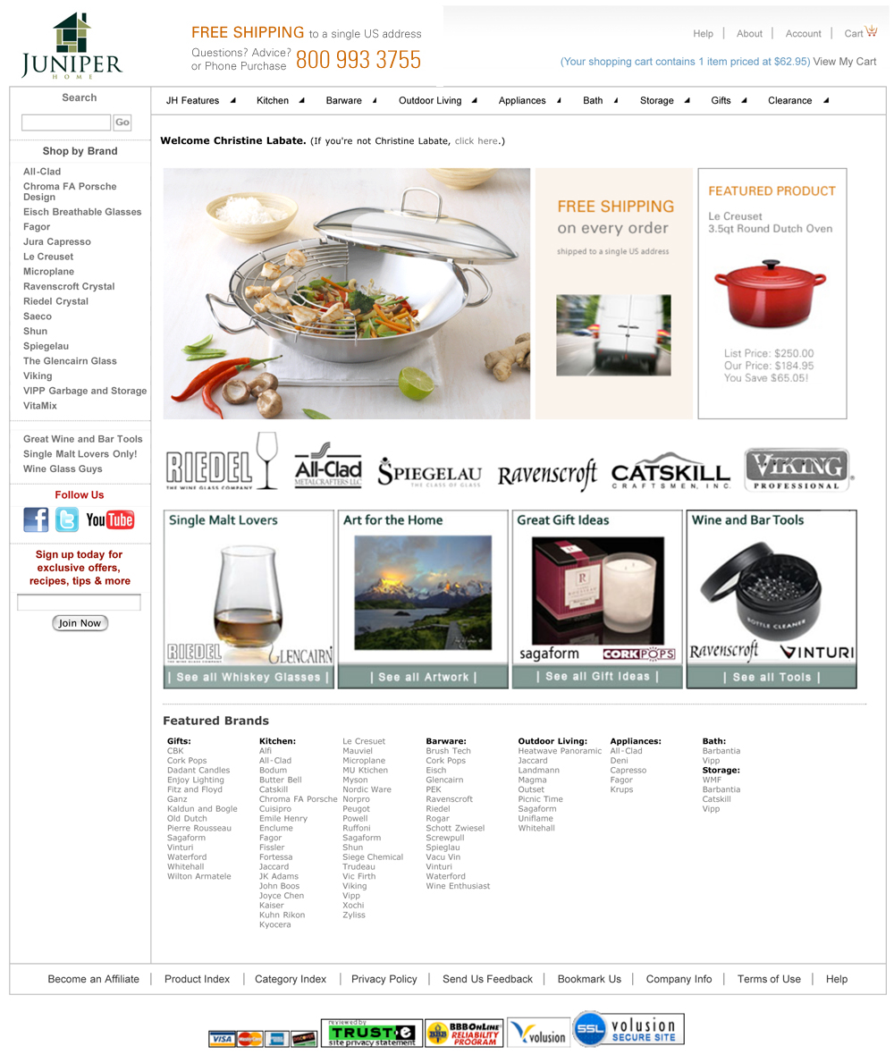 Juniper Home | All Clad, Riedel, Le Creuset | Everything for tod